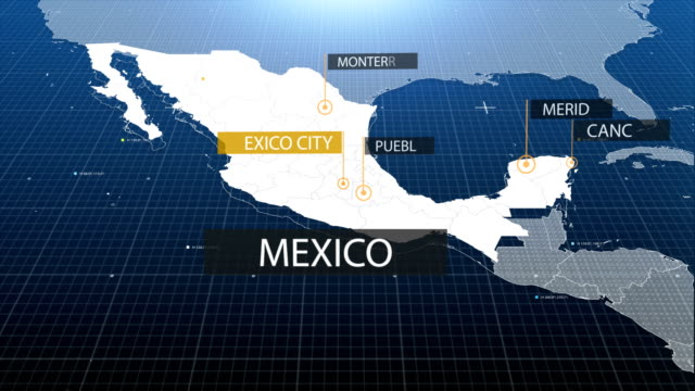 mexican  map - mexico stock videos and b-roll footage