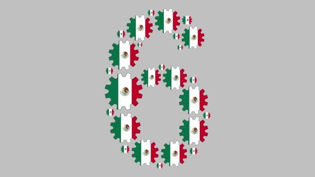 stockvideo's en b-roll-footage met mexicaanse nummer zes - getal 6
