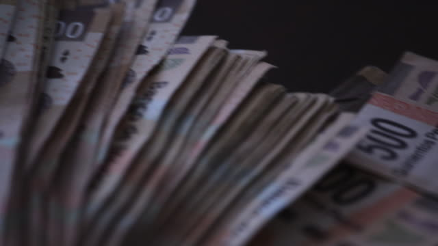mexican pesos on table, close up - mexico stock videos & royalty-free footage