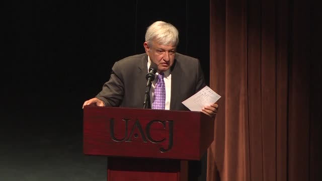 mexican president elect andres manuel lopez obrador opens a forum on violence and crime in the border city of ciudad juarez to seek solutions to... - drug trafficking stock videos & royalty-free footage