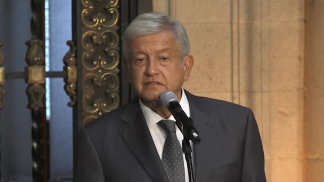 mexican president-elect andres manuel lopez obrador known as amlo addresses issues he will focus on during his term including the north american free... - mexican american stock videos & royalty-free footage