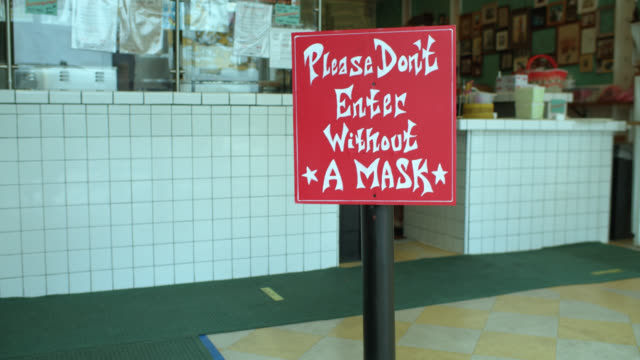 Mexican Restaurant Requiring Mask and Physical Distancing Covid-19 Lockdown