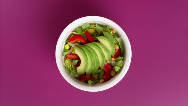 mexican salad studio shot. - slice stock videos & royalty-free footage