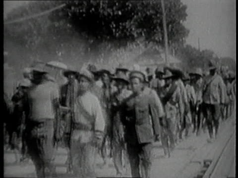 mexican troops return to mexico, americans returning / mexico - recreational horse riding stock videos & royalty-free footage