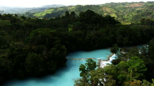 mexico: agua azul - chiapas stock-videos und b-roll-filmmaterial