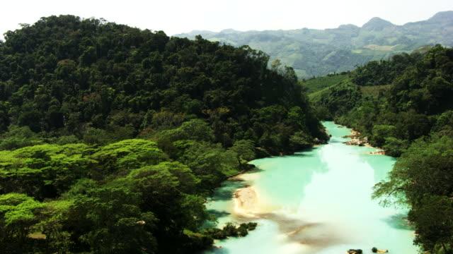mexico: agua azul - mexico stock videos & royalty-free footage