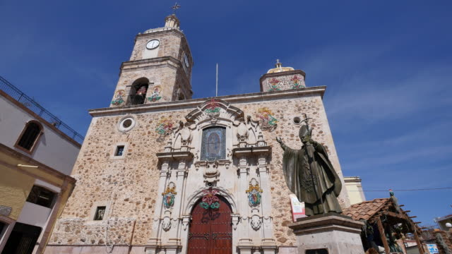 mexico arandas guadalupe church - pope john paul ii stock videos & royalty-free footage