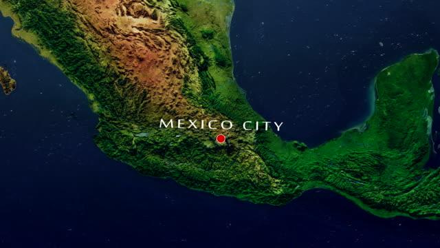メキシコ シティ 4 k がズームインします。 - メキシコ点の映像素材/bロール