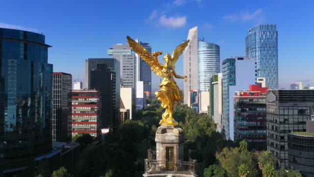 mexico city aerial view - america latina video stock e b–roll