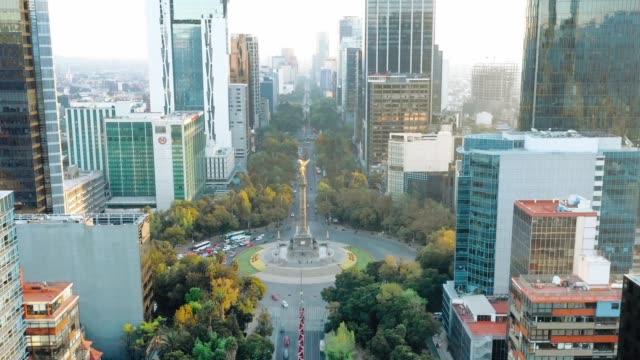 vídeos de stock e filmes b-roll de mexico city, angel of independence - américa latina