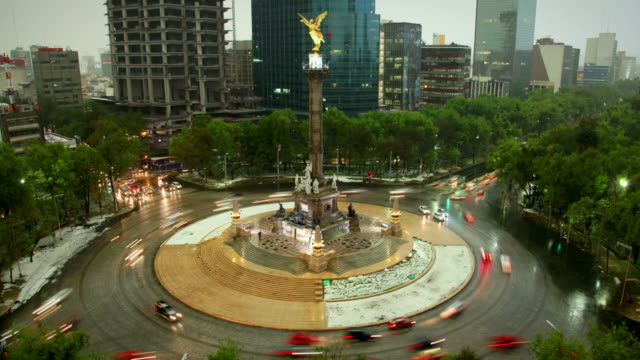 mexico city, angel of independence - mexico stock videos & royalty-free footage