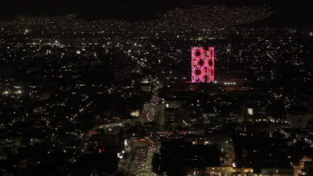 mexico city at night - torre latinoamericana stock videos & royalty-free footage