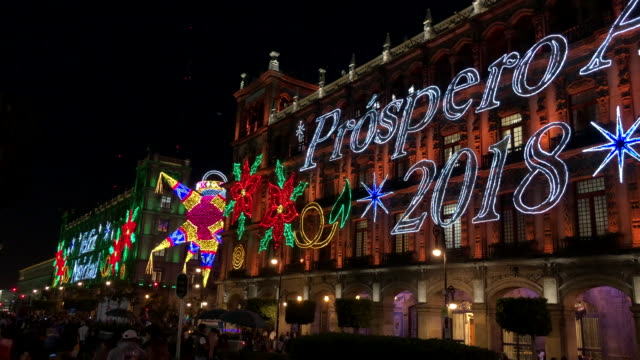 Mexico City Christmas Street Decorations