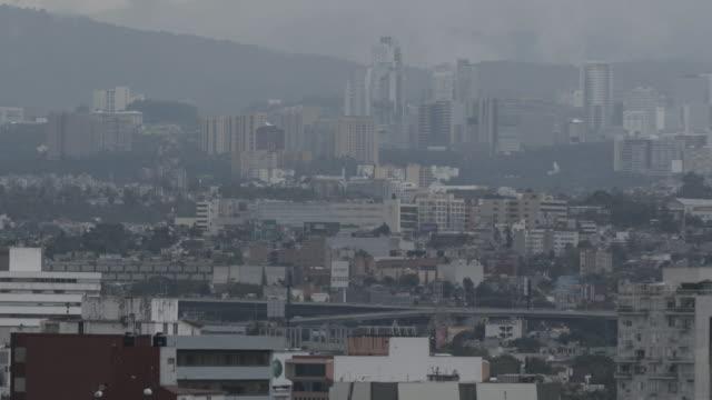 vídeos de stock e filmes b-roll de mexico city cityscape - cidade do méxico
