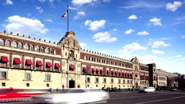 mexico city, palacio nacional - palacio stock videos & royalty-free footage