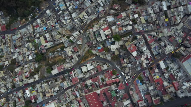 Mexico City neighborhood, overhead aerial