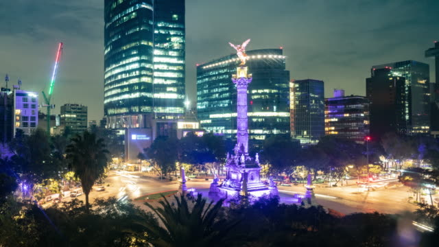 mexico city night time lapse - mexico stock videos & royalty-free footage