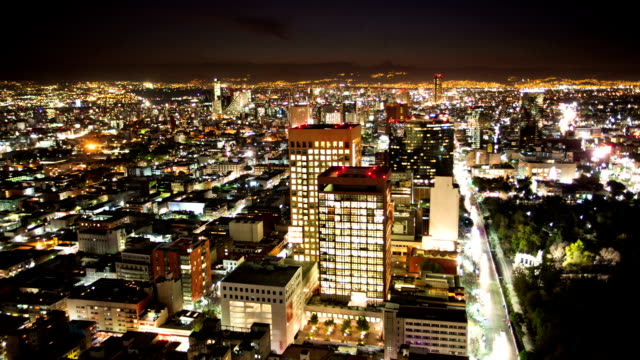 time lapse: mexico city, night - mexico stock videos and b-roll footage