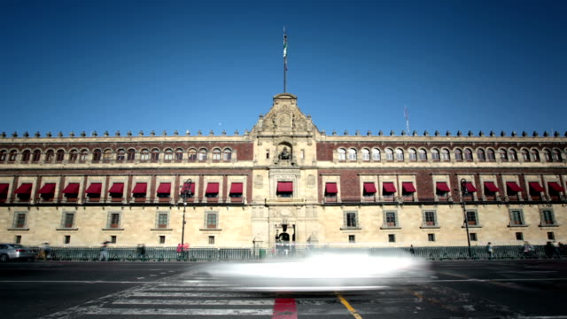 mexico city, palacio nacional - zocalo mexico city stock videos & royalty-free footage