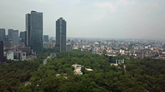 mexico city paseo de la reforma skyscrapers and chapultepec park - avenue stock videos & royalty-free footage