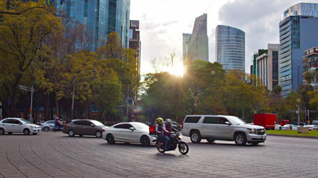 vídeos de stock e filmes b-roll de mexico city. sanset. financial district. - transporte assunto