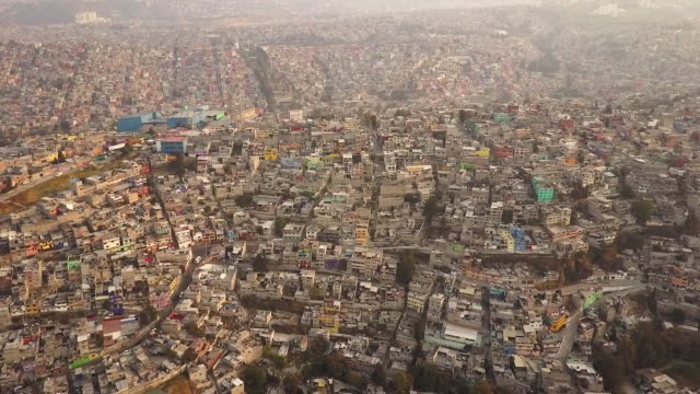 Mexico City skyline, aerial view
