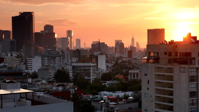 mexico city skyline cityscape - mexico stock videos & royalty-free footage