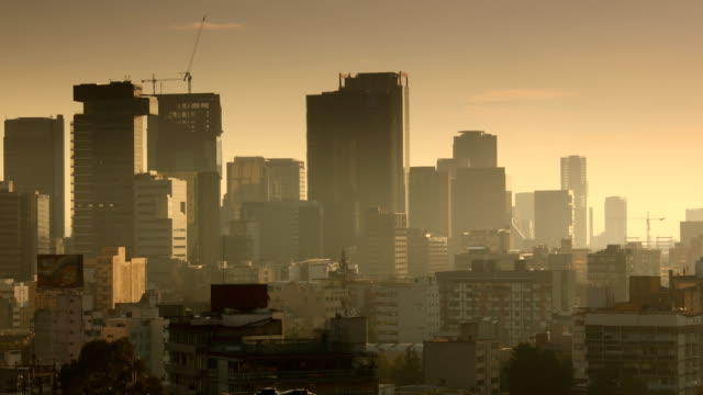 mexico city sunrise skyline - mexico city stock videos & royalty-free footage