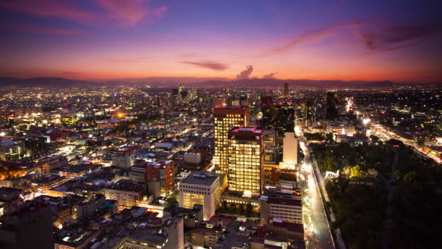 TIME LAPSE: Cidade do México pôr do sol