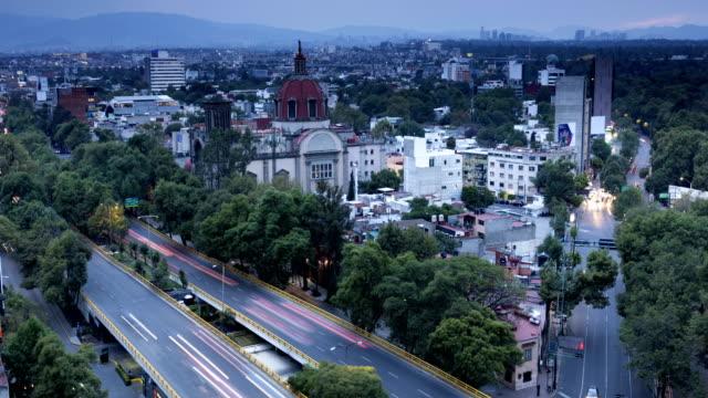mexico city time lapse - inquadratura fissa video stock e b–roll