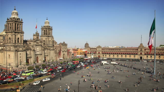 stockvideo's en b-roll-footage met mexico city (zocalo) - mexico stad