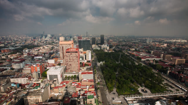 time lapse: mexico city - torre latinoamericana stock videos & royalty-free footage
