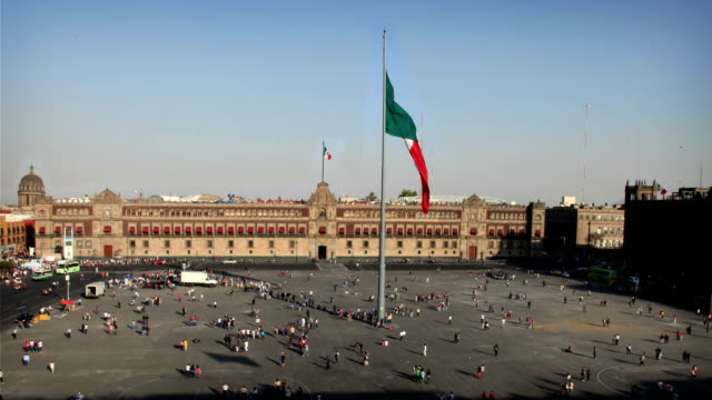 mexico city (zocalo) - square stock videos & royalty-free footage