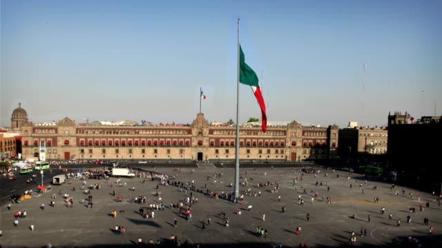 mexico city (zocalo) - zocalo mexico city stock videos & royalty-free footage