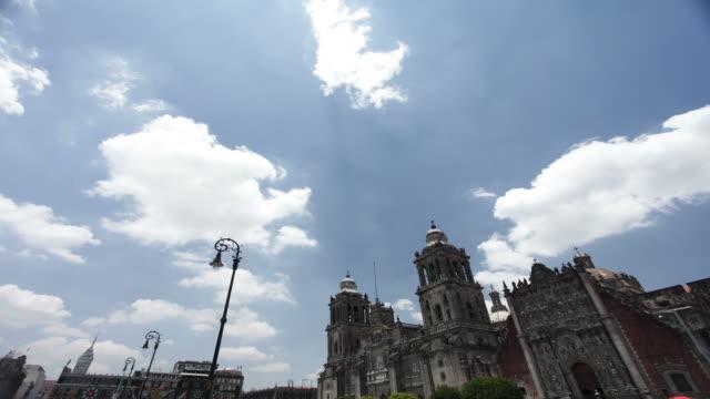 mexico city zocalo - torre latinoamericana stock videos & royalty-free footage
