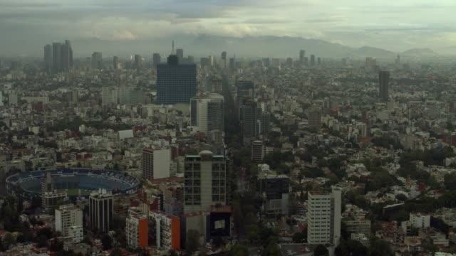 mexico city's estadio azul and world trade center - azul stock-videos und b-roll-filmmaterial
