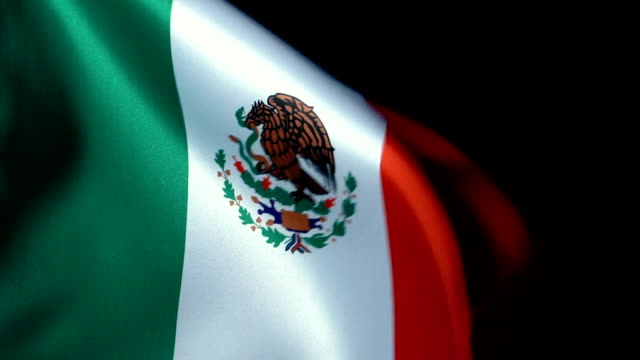 Mexico Flag Flapping