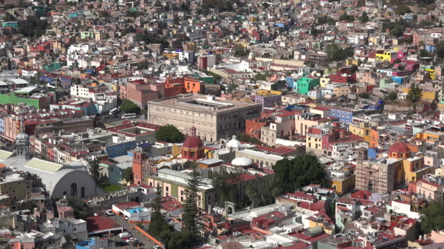 mexico guanajuato sun on famous fortress - granary stock videos & royalty-free footage