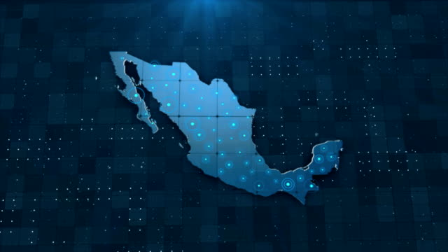 4k mexico map links with full background details - mediterranean culture stock videos & royalty-free footage