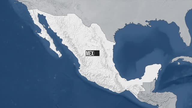 mexico map zoom - mexico stock videos & royalty-free footage