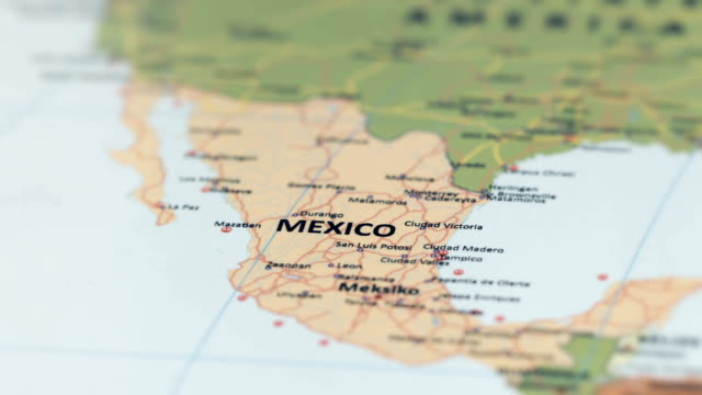 north america mexico on world map - america latina video stock e b–roll