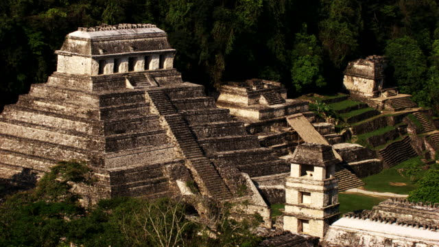 mexico: palenque temples - mayan stock videos & royalty-free footage