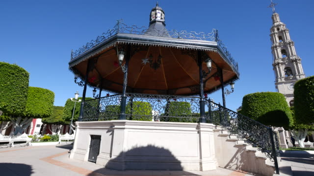 mexico san julian bandstand in plaza - bandstand stock videos and b-roll footage