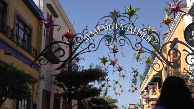 mexico tlaquepaque welcome to jalisco sign - craft product stock videos and b-roll footage