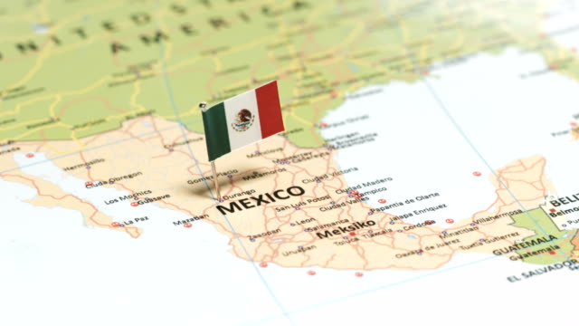 mexico with national flag - mexico stock videos & royalty-free footage