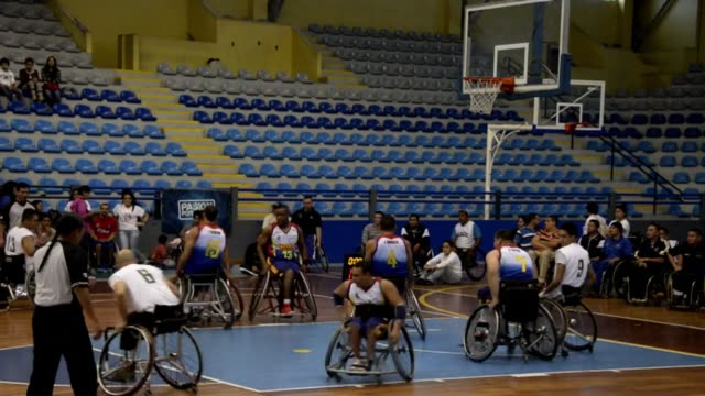 mexico won the first central america mexico and caribbean basketball wheelchair tournament thursday night qualifying along with venezuela for the... - qualification round stock videos & royalty-free footage