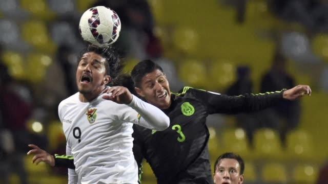 mexico y bolivia empataron a cero este viernes en su debut en el grupo a de la copa america de chile2015 - bol stock videos & royalty-free footage