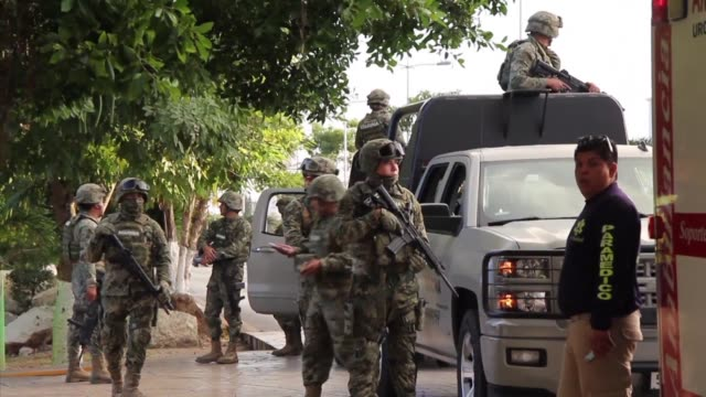 Mexico's Mayan Riviera is rocked by another shootout as an attack on the prosecutor's office leaves three people dead a day after five died in a...