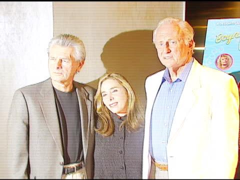 Meyer Gottlieb President of Samuel Goldwyn Films Susan Seidelman director and Samuel Goldwyn Jr at the 'Boynton Beach Club' Los Angeles Premiere at...