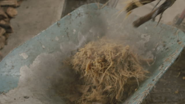 mezcal factory in oaxaca agave bagasse - fermenting stock videos and b-roll footage